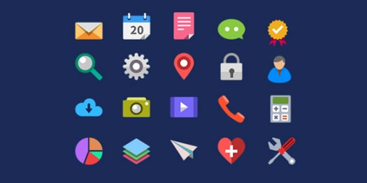 20-Flat-Icons-PSD